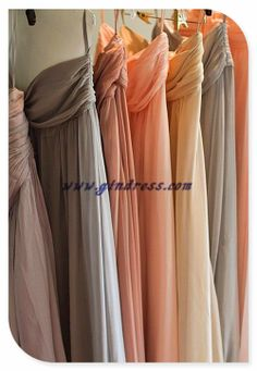possible color scale for bridesmaid dresses