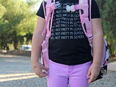 I will not party in school tee