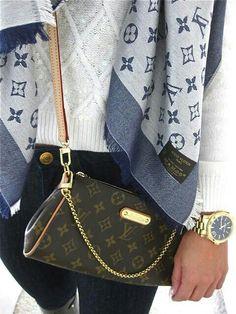 Louis Vuitton purse = ♡ Louis Vuitton cardigan = ♡♡ Louis Vuitton anything = ♡♡♡ . Louis Vuitton - purse - cardigan - anything - brown - caramel - gold - silver - live - love - life - accessories - watch - white - blue - navy - jeans - clothing - e Louis Vuitton Purses, Pochette Louis Vuitton, Vuitton Neverfull, Louis Vuitton Crossbody, Lv Handbags, Fashion Handbags, Fashion Bags, Womens Fashion, Fashion Trends