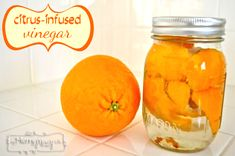 Citrus-Infused Vinegar for Homemade Cleaning Products