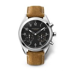 The Kronaby collection of watches offer top-end designs with lots of useful hidden hybrid features. Brown Suede, Suede Leather, Brown Leather, Diamond Stores, Fitness Watch, Stainless Steel Case, Watches For Men, Gps Watches, Omega Watch