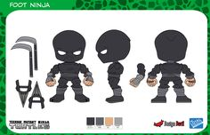 Character Designs and Control Art for The Loyal Subjects Action Vinyl Figures.