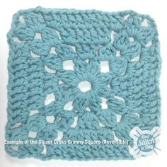 Example of the Cluster Cross Granny Square, free pattern, free video tute from amazing Guy! He rocks, so does site.... thanks so xox