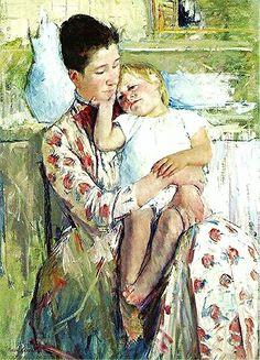 'Mãe não tem limite, é tempo sem hora, luz que não apaga quando sopra o vento e chuva desaba, veludo escondido na pele enrugada, água pura, ar puro, puro pensamento. Morrer acontece com o que é breve e passa sem deixar vestígio. Mãe, na sua graça, é eternidade[…]' Trecho de um poema do Drummond e tela de Mary Cassatt para este dia das mães.