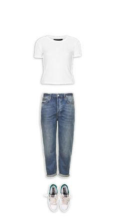 just a white #ribbed #Topshop #shirt and #jeans