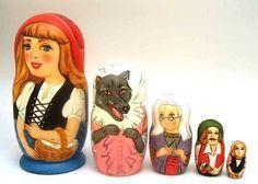 Red Riding Hood Matryoshka by Zenina