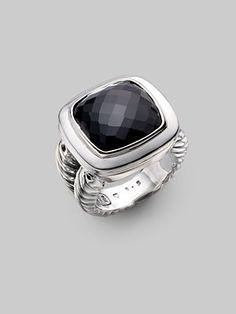 David Yurman - Black Onyx & Sterling Silver Ring - Saks.com