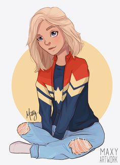 i made my own version of captain marvel and I think it's not that bad. (btw br… i made my own version of captain marvel and I think it's not that bad. (btw brie larson will do an amazing job as captain marvel) Cartoon Girl Drawing, Girl Cartoon, Cartoon Drawings, Cartoon Art, Cute Drawings, Captain Marvel, Marvel Fan, Marvel Comics, Marvel Avengers