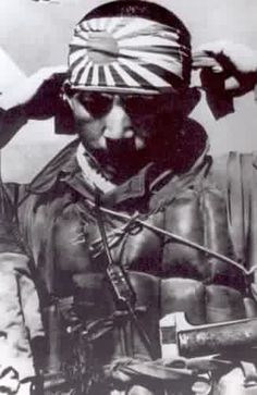 Japanese pilot. The Japanese were known as very ferocious, brutal and ruthless military fighters.