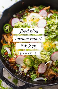 Food blog income report & traffic: January 2018