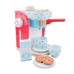 New Classic Toys - Wooden Play Food Coffee Machine