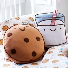 Land of Nod has come home to Crate & Barrel. Crate and Kids is a new destination for high quality baby and kids furniture and decor. Food Pillows, Cute Pillows, Diy Pillows, Decorative Pillows, Throw Pillows, Kawaii Plush, Cute Plush, Nursery Decor, Bedroom Decor