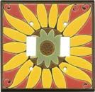 MEXICAN SUNFLOWER ceramic switchplate