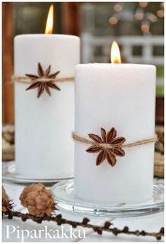 Creative and Inspiring Modern Christmas Candles Decorations .- Creative and Inspiring Modern Christmas Candles Decorations Ideas - Noel Christmas, Modern Christmas, Winter Christmas, Christmas Crafts, Christmas Ornaments, Nordic Christmas, Beach Christmas, Homemade Christmas, Beautiful Christmas