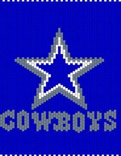 Dallas Cowboys bead pattern                                                                                                                                                                                 More