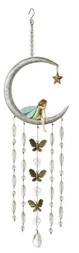 Chimes Grasslands Road Fairy in The Moon Wind Chime, 6-Inch Backyard * This is an Amazon Associate's Pin. Click the image to view the details from the website.