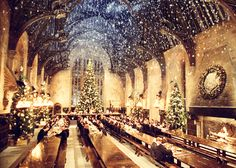 I'd love to be in the Great Hall at Christmastime :)