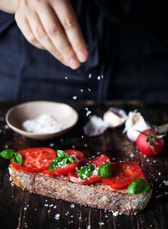 Rustic Tomato Toast. Vegan Recipe. - Crazy Cucumber