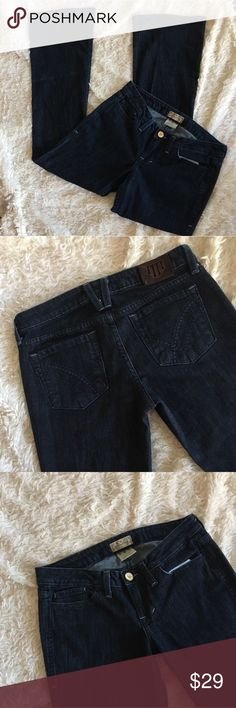 "WILLIAM RAST Dark Wash Jeans Dark Wash Flare Jeans in Excellent Condition. Thread pocket design. Faint wear like on back right leg as shin in photo. Inseam: 32.5"", Rise: 8"", Length: 40"", Waist: 15.75"", Hem Width: 10.25"" ✨OFFERS WELCOME✨ William Rast Jeans Flare & Wide Leg"