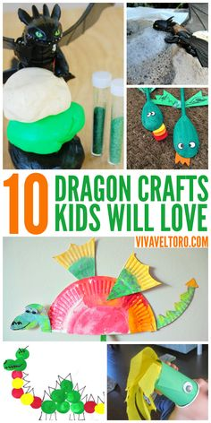Dragon crafts that your kids will love. So much fun for a dragon themed party or DIY craft day.