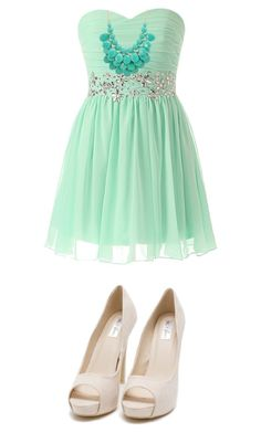 """""""Green"""" by alivea-burgess ❤ liked on Polyvore featuring Nly Shoes"""