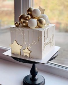 How much talent! there is this winter cake ❄️ - How much talent! there is this winter cake ❄️, lot of - Cute Birthday Cakes, Beautiful Birthday Cakes, Amazing Wedding Cakes, Beautiful Cakes, Elegant Birthday Cakes, Pretty Cakes, Cute Cakes, Winter Torte, Winter Cakes