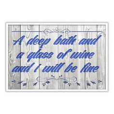 A deep bath and wine bathroom wall print - Tshirt