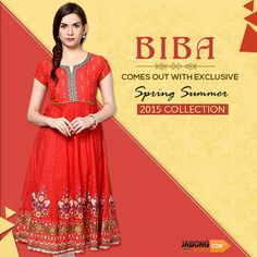 #BIBA comes out with exclusive #SpringSummerCollection2015! :) Check out their amazing light cotton #kurtis! :) #JabongWorld #SpringSummer2015