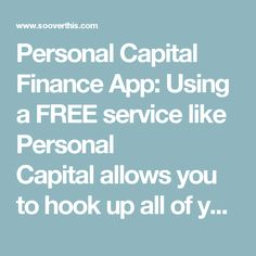 Personal Capital Finance App: Using a FREE service like Personal Capitalallows you to hook up all of your current bank and investment accounts (including 401k and IRA's) and then creates a combined picture of your savings and net worth which then allows you to see how close you are to reaching your desired goal each and every day.