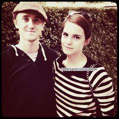Cute! Tom Felton and Emma Watson