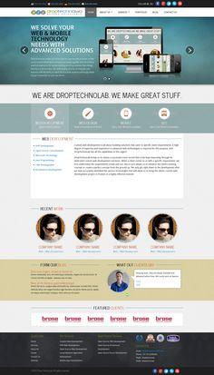 DropTechnoLab - Responsive | Concept Design