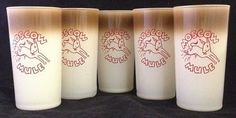 VINTAGE Moscow Mule Highball Drink Glass Tumbler Ombre Colored SET OF 5 #MoscowMule