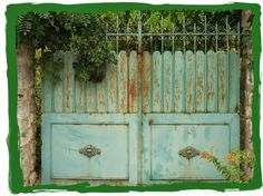 I was lucky enough to go to Claude Monet's house in Giverny, France. Driveway Gate, Fence Gate, Fence Doors, Garden Gates And Fencing, Iron Gates, Entrance Gates, Gate Design, Claude Monet, Garden Art