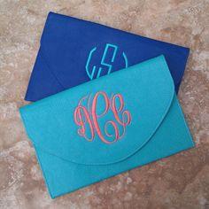 Monogram Envelope Clutches