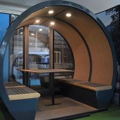 The Outdoor Pods are specially designed with a waterproof exterior, meaning they can be permanently located outdoors. These pods come with a range of optional features - even solar panels! Garden Pods, Beer Garden, Space Shows, Shade Structure, Commercial Furniture, Sense Of Place, Outdoor Seating, Wasting Time, Solar Panels