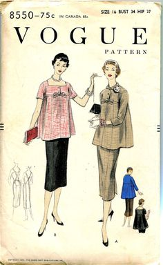 1950s Vintage Vogue Sewing Pattern 8550 by DesignRewindFashions, $35.00