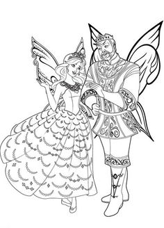 Barbie Mariposa King And Queen Of Flutterfield Kingdom Coloring Pages Colouring PagesBarbie PagesKIDS