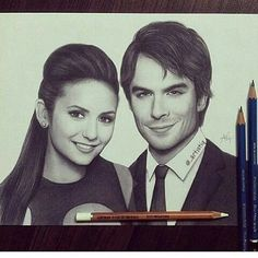 Thats a really good and cute drawing of Delena