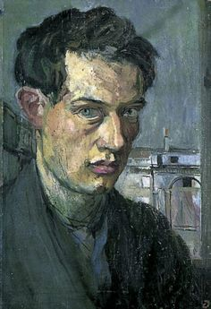 thebloomsburygroup: Duncan Grant, Self-Portrait, c. 1910. (Charleston Collection.) This appears to be a charcoal and pastel, which is unusual but I really like it a lot!