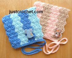 Free newborn hat crochet pattern http://www.justcrochet.com/newborn-hat-usa.html #justcrochet #crochet