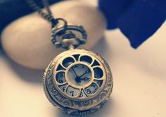 $7.99 Vintage Hollowed-out Pocket Watch Pendant Necklace at Online Jewelry Store Gofavor.com.