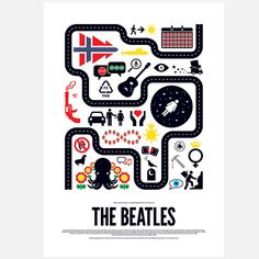 Match the icon to the song | The Beatles Print 42x60