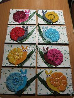 ATC-kaart Slak slak hoorns Vysun gesloten Kralen Paper Beads karton Lijm Garen Stof foto 1
