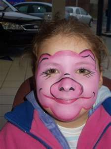 pig costume makeup for the nose instead of an elastic one perhaps