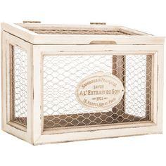 White Chicken Wire Box