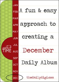 Using Project Life + Pocket Scrapping to make December Daily easier