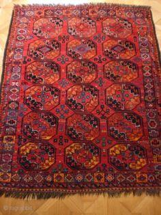 Amu Darya area main carpet circa 1850. 2.40m x 2.08m I James Cohen