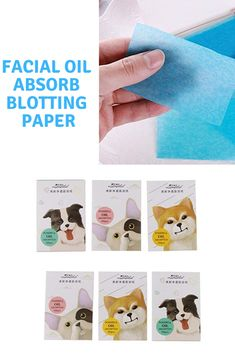 50pcs Tissue Papers Makeup Cleansing Oil Absorbing Face Paper Korea Cute Cartoon Absorb Blotting Facial Cleanser Face Tools With Traditional Methods Beauty & Health