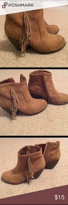 Mini boots Great condition! There is one little spot though on one boot at the front Shoes Ankle Boots & Booties