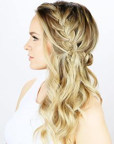 20 Long Hairstyles You Will Want to Rock Immediately! Side Braid Half Updo The post 20 Long Hairstyles You Will Want to Rock Immediately! appeared first on Geflochtene Frisuren. Braided Half Updo, Braided Prom Hair, Haircuts For Long Hair, Wedding Hairstyles For Long Hair, Bridesmaid Hairstyles, Prom Hairstyles, Hairstyle Wedding, Fashion Hairstyles, Pixie Haircuts